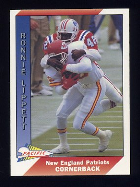 1991 Pacific Football #309 Ronnie Lippett - New England Patriots