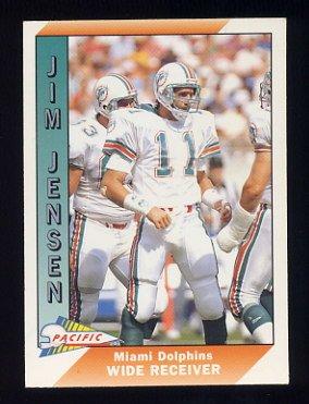 1991 Pacific Football #281B Jim Jensen - Miami Dolphins