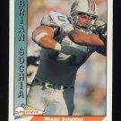 1991 Pacific Football #276 Brian Sochia - Miami Dolphins
