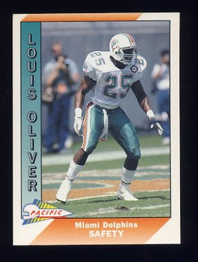1991 Pacific Football #271 Louis Oliver - Miami Dolphins