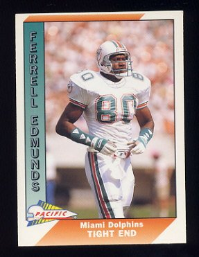 1991 Pacific Football #268 Ferrell Edmunds - Miami Dolphins
