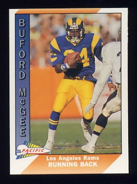 1991 Pacific Football #255 Buford McGee - Los Angeles Rams