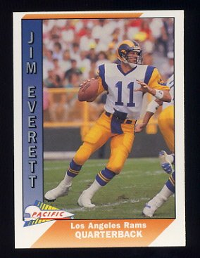 1991 Pacific Football #250 Jim Everett - Los Angeles Rams