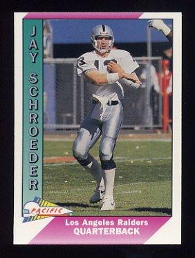 1991 Pacific Football #239 Jay Schroeder - Los Angeles Raiders