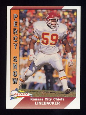 1991 Pacific Football #224 Percy Snow - Kansas City Chiefs