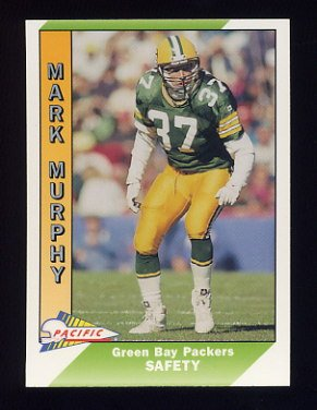 1991 Pacific Football #162 Mark Murphy - Green Bay Packers