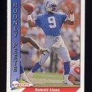 1991 Pacific Football #143 Rodney Peete - Detroit Lions