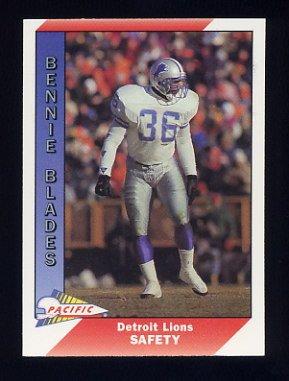 1991 Pacific Football #131 Bennie Blades - Detroit Lions