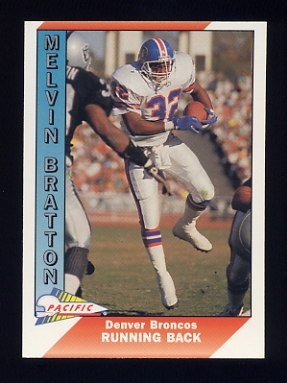 1991 Pacific Football #112 Melvin Bratton - Denver Broncos