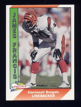 1991 Pacific Football #064 James Francis - Cincinnati Bengals