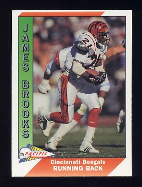1991 Pacific Football #060 James Brooks - Cincinnati Bengals