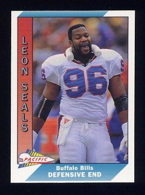 1991 Pacific Football #030 Leon Seals - Buffalo Bills