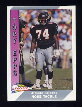 1991 Pacific Football #010 Tory Epps - Atlanta Falcons