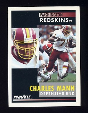 1991 Pinnacle Football #390 Charles Mann - Washington Redskins