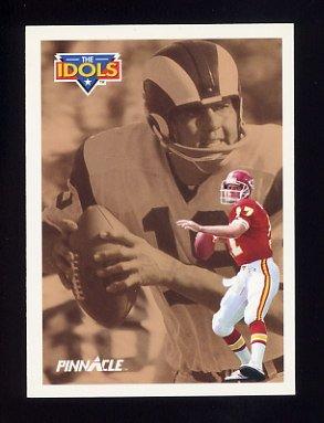 1991 Pinnacle Football #379 The Idols Steve DeBerg / Roman Gabriel