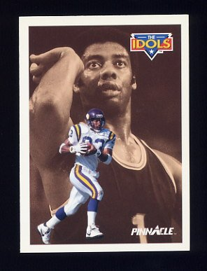 1991 Pinnacle Football #377 The Idols Steve Jordan / Oscar Robertson