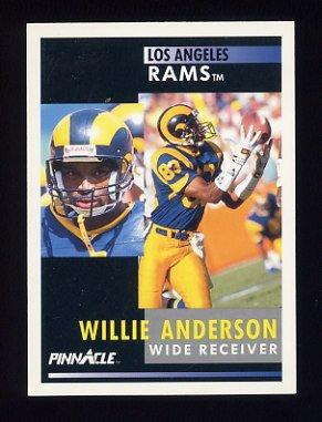1991 Pinnacle Football #349 Flipper Anderson - Los Angeles Rams