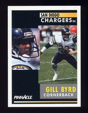 1991 Pinnacle Football #345 Gill Byrd - San Diego Chargers