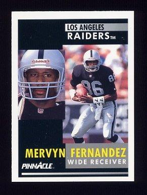 1991 Pinnacle Football #341 Mervyn Fernandez - Los Angeles Raiders