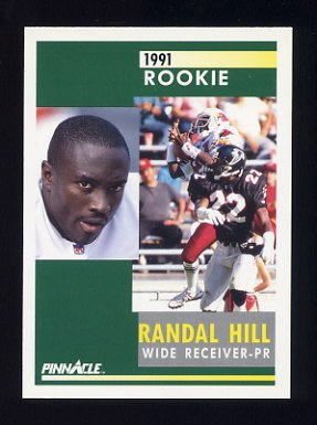 1991 Pinnacle Football #335 Randal Hill RC - Phoenix Cardinals