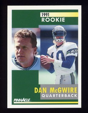 1991 Pinnacle Football #334 Dan McGwire RC - Seattle Seahawks
