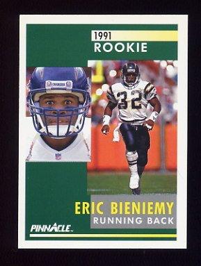1991 Pinnacle Football #326 Eric Bieniemy RC - San Diego Chargers