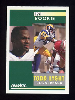 1991 Pinnacle Football #307 Todd Lyght RC - Los Angeles Rams