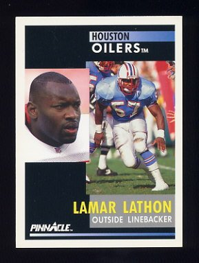 1991 Pinnacle Football #254 Lamar Lathon - Houston Oilers