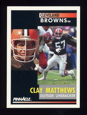 1991 Pinnacle Football #251 Clay Matthews - Cleveland Browns