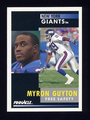 1991 Pinnacle Football #248 Myron Guyton - New York Giants