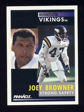 1991 Pinnacle Football #245 Joey Browner - Minnesota Vikings