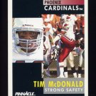 1991 Pinnacle Football #243 Tim McDonald - Phoenix Cardinals