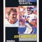 1991 Pinnacle Football #050 Jeff Hostetler - New York Giants