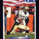 1992 All World Football #106 Gene Atkins - New Orleans Saints