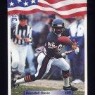 1992 All World Football #092 Wendell Davis - Chicago Bears