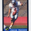 1992 Classic Football #63 Jason Hanson - Detroit Lions