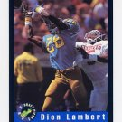 1992 Classic Football #23 Dion Lambert - New England Patriots