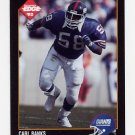 1992 Collector's Edge Football #117 Carl Banks - New York Giants