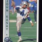 1992 Pacific Football #293 John Kasay - Seattle Seahawks