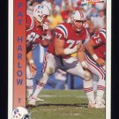 1992 Pacific Football #194 Pat Harlow - New England Patriots