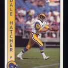 1992 Pacific Football #159 Dale Hatcher - Los Angeles Rams