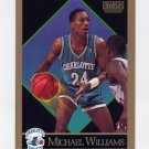 1990-91 Skybox Basketball #036 Michael Williams - Charlotte Hornets