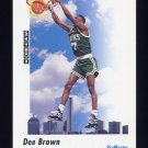 1991-92 Skybox Basketball #577 Dee Brown - Boston Celtics