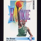 1991-92 Skybox Basketball #322 Dee Brown - Boston Celtics