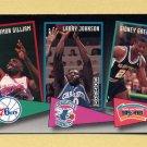 1992-93 Skybox Basketball School Ties #ST14 Armon Gilliam / Larry Johnson / Sidney Green