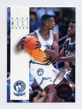 1993-94 Skybox Premium Basketball #118 Doug West - Minnesota Timberwolves