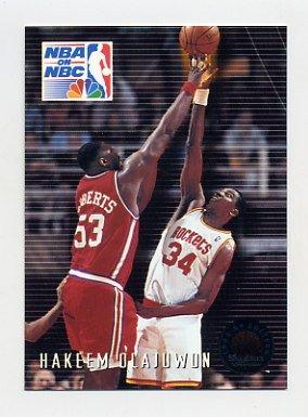 1993-94 Skybox Premium Basketball #006 Hakeem Olajuwon PO - Houston Rockets