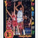1991-92 Wildcard Basketball #089 Fennis Dembo - Wyoming Ex