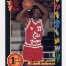 1991-92 Wildcard Basketball #064 Mitchell Anderson - Bradley Ex