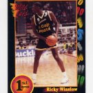1991-92 Wildcard Basketball #050 Ricky Winslow - Houston Ex